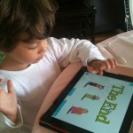 o (meu) iPad da minha filha