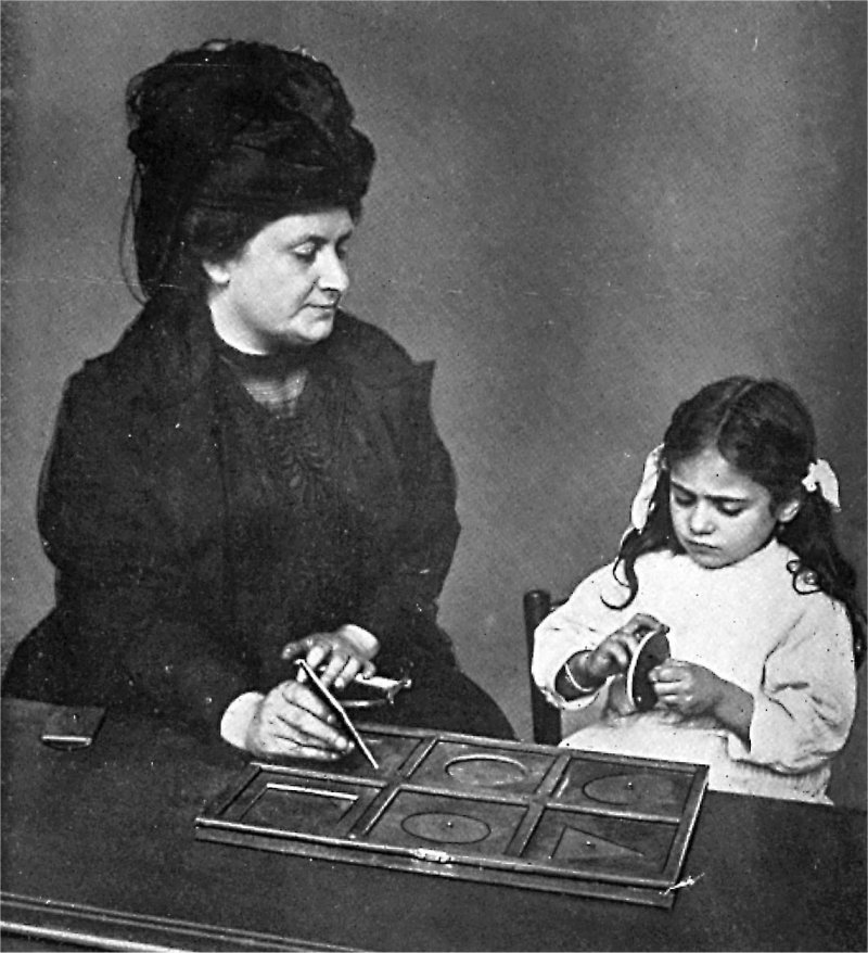 Maria Montessori e novas maneiras de entender as formas.