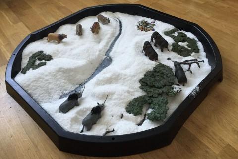 Projeto: diorama com animais da era do gelo