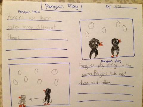 Depois de pesquisar, escrever sobre pinguins (redjumper.net)
