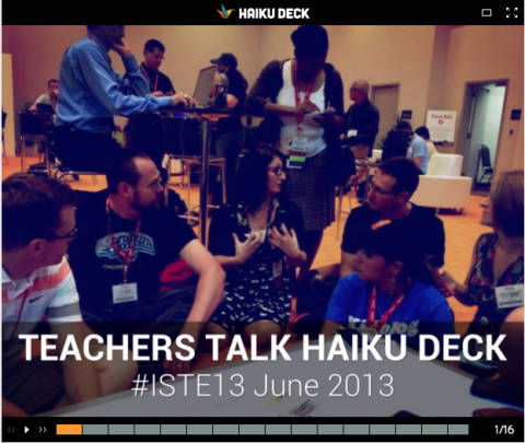 Haiku Deck Teachers Talk