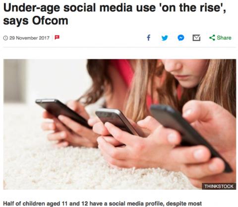 Aumenta uso de redes sociais por crianças entre 11 e 12 anos