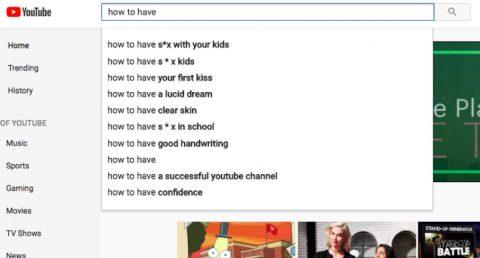 Como fazer... aparece de tudo na busca do youtube