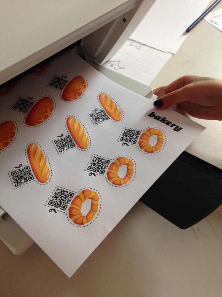 Imprimindo pãezinhos